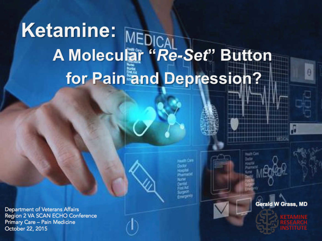 Ketamine A Molecular Reset Botton for Chronic Pain and Depression