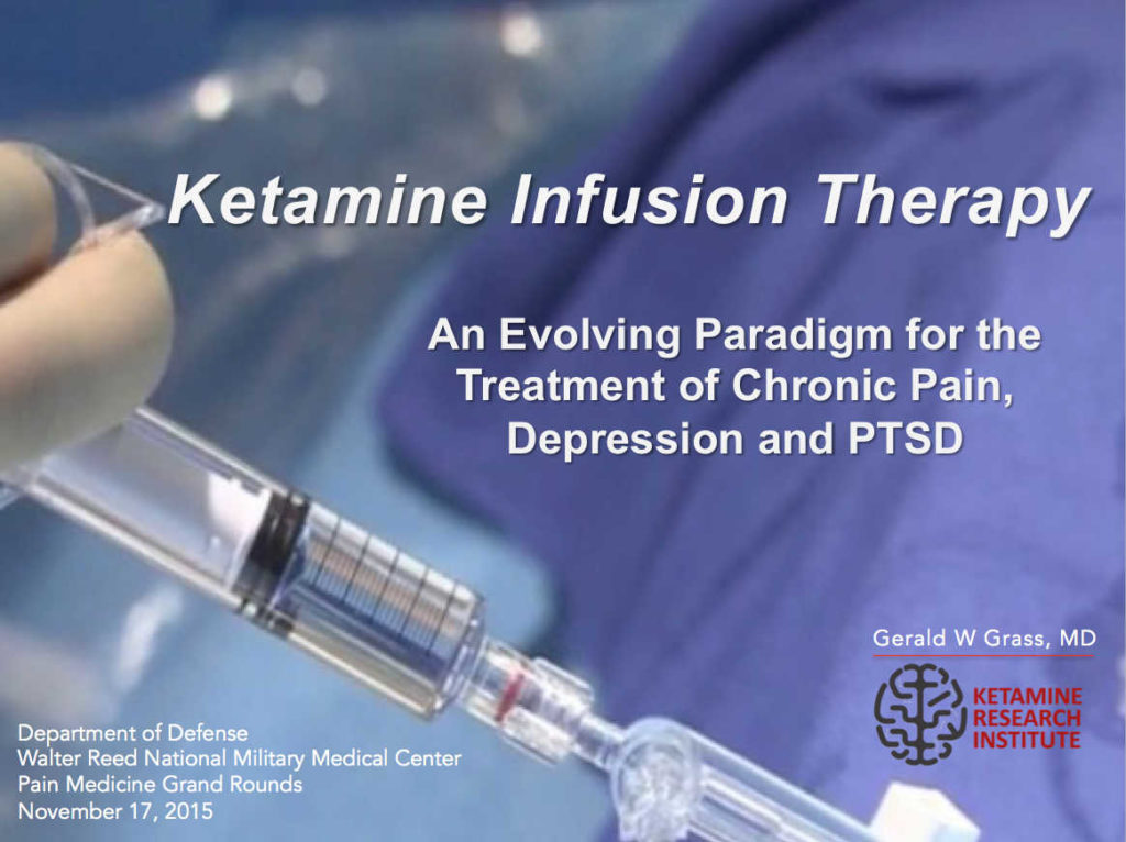 Walter Reed Medical Center Ketamine Infusion Therapy